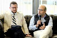 Joao Zilao (Tournement Director) and Miguel Pinto Luz (Vice-Mayor of Cascais) Millennium Estoril Open 2019, Press conference at Nova SBE University, i...