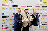 Rui Teixeira (Millennium BCP Administrator), Joao Zilhao (Tournement Director), Miguel Pinto Luz (Vice-Mayor of Cascais), Millennium Estoril Open 2019...