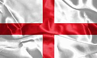 Flag of England Waving In The Wind. St George's Cross 3D illustration.