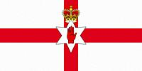Northern Ireland Flag. Ulster Banner 3D illustration.