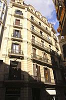 Residential building in Gothic Quarter Barcelona.