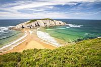 Castro Island, Liencres, Cantabria, Spain.