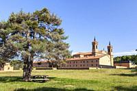 Real Monastery of San Juan de la Peña near Jaca - new monastery -, Huesca, Spain.