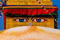 The Boudhanath Stupa which contains the Eyes of Buddha, which symbolizes Buddha as all seeing. The Boudhanath Temple is the largest stupa in Nepal and...