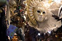 shop selling Carnevale masks and miscellanea, Venice, Italy
