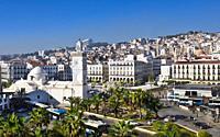 Argelia, Argel City,, Martyrs Square, Djemaa El-Djedid Mosque, UNESCO.