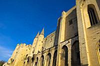 Palais des papes in Avignon, Provence Alpes Cote dâ. . Azur, France,.