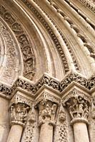 Detail of Romanesque door Almoina, XIII century, in the cathedral of Valencia, Spain.