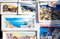 Postcards of Oia, Santorin, Greece, Europe.