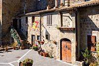 Historical buiding of Bolsena, near Bolsena lake, in Lazio, in Italy.