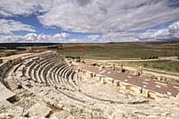 Teatro romano, parque arqueológico de Segóbriga, Saelices, Cuenca, Castilla-La Mancha, Spain.