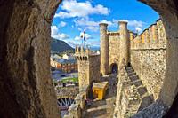 Knights Templar Castle of Ponferrada, 14th Century Romanesque Style, Ponferrada, El Bierzo Region, León Province, Castilla y León, Spain, Europe.