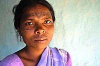 Woman from the Baïga tribe ( Madhya pradesh, India).