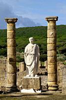 Rate (Spain). Sculpture of Trajan in the Roman city of Baelo Claudia.