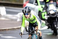 Mikel Bizkarra Etxegibel at Zumarraga, at the first stage of Itzulia, Basque Country Tour. Cycling Time Trial race.
