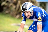 Pieter Serry at Zumarraga, at the first stage of Itzulia, Basque Country Tour. Cycling Time Trial race.