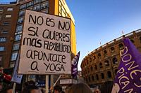 March 8 feminist demonstration. València. Spain. 2019.