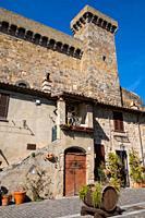 Rocca Monaldeschi della Cervara, castle in Bolsena, near Bolsena lake, Lazio, Italy.