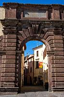 City entrance of Bolsena, near Bolsena lake, Lazio, Italy.