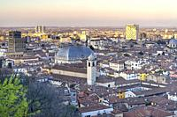 Panorama of Brescia from the Cidneo Castle