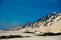 Tateyama mountains in Toyama, Japan. Toyama is one of the important cities in Japan for cultures and business markets.