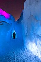 Ice Castles, Dillon Town Park, Dillon, Colorado USA. Ice Castles is an award-winning frozen attraction located in six cities across North America. The...