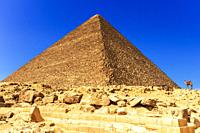 The Great Pyramid of Cheops in Giza, Egypt.