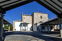 Our Lady of the Old hermitage facade in Mora. Toledo. Spain. Europe.