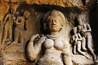 Ellora caves statues, Aurangabad, Maharashtra, India.