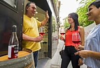 Vinoteca, shop wine, in Tudela. Navarre. Spain.