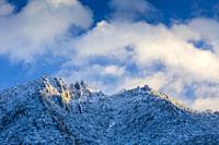 Montejurra mountain in winter. Navarre, Spain, Europe.
