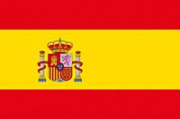 Spanish National Flag With Coat Of Arms 3D illustration.