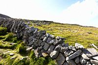 Typical panorama in Inish more, the biggest of Aran Islands, Ireland.