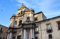 Church of San Placido, Catania, Sicily, Italy.