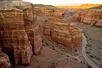 Charyn Canyon landscape, Kazakhstan.