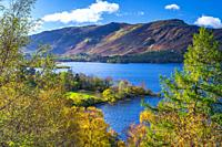 Darwent Water, Keswick, Lake District National Park, Cumbria, England, UK, Europe.