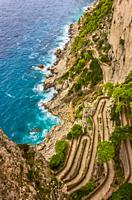 Via Krupp is a historic switchback paved footpath on the island of Capri, connecting the Charterhouse of San Giacomo and the Gardens of Augustus area ...