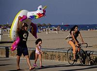 Beach scene. Valencia, Spain