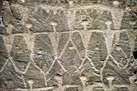 "Prehistoric petroglyphs, rock carvings, carved by the the prehistoric Camuni people in the Copper Age around the 3rd milleneum BC, Stele ""Cemmo 3"" fou..."