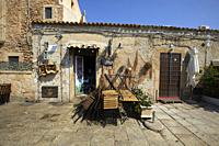 The main square of the historic village Marzamemi, Province of Syracuse, Sicily, Italy.