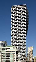 Vancouver House, a new tower in downtown Vancouver, BC, Canada, designed by BIG, Bjarke Ingels Group architects.