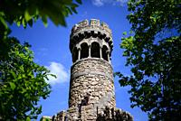 Tower of Leda's Grotto at Quinta da Regaleira, Sintra, Portugal.