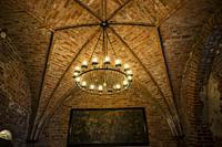 Chapel architecture. Trakai Island Castle, Lake Galve, Trakai, Lithuania, Baltic States, Europe.