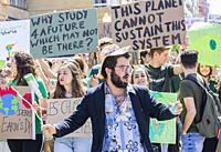 Las Palmas, Gran Canaria, Canary Islands, Spain. 15th March, 2019. Climate change protest by Spanish students in Las Palmas, the capital of Gran Canar...