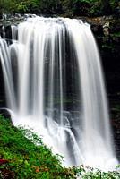 Dry Falls in Nantahala National Forest, North Carolina.
