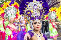 Las Palmas, Gran Canaria, Canary Islands, Spain. 9th March, 2019. The month long carnival in Las Palmas on Gran Canaria ends with a huge street parade...