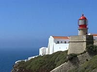 Algarve (Portugal). Lighthouse of Cabo de San Vicente in the council of Vila do Bispo.