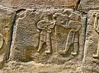 Pictures & Images Hittite relief sculpted orthostat panels of the Sphinx Gate. Panel depicts musicians. Alaca Hoyuk (Alacahoyuk) Hittite archaeologica...