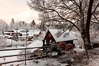 View of Cremosne village, Turiec region, Slovakia.