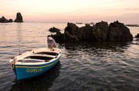 Coast, Aci Trezza, Aci Castello, Catania, Sicily, Italy.